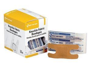 FIRST AID ONLY G124 Knuckle Bandage, Fabric, 3-1/2 in. L, PK40