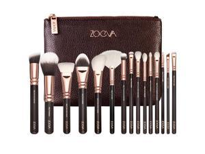 ZOEVA Brush 15pcs Essential Brushes Set Blend Foundation Contour Makeup Complete Face Eye Brush