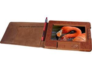 Sungale CD700A-BN Sungale 7 digital photo av album in brown leatherette case