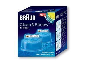 Braun Series 5 Shaver System 550CC Black Electric Cordless Rechargeable Razor - Special Edition Bundle with 2 Clean & Renew Cartridges Included
