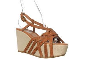 Lucky Brand Stacey Wedge Sandal - Tan, 9.5 M
