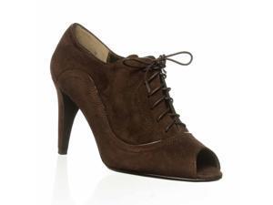 Moda Spana Jeuness Open Toe Bootie - Dark Brown, 7 M