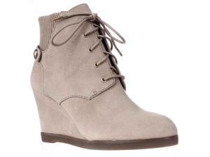 MICHAEL Michael Kors Carrigan Wedge Knit Cuff Lace Up Ankle Boots - Dark Khaki, 8 M US / 38.5 EU