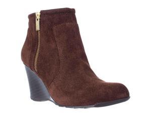 Kenneth Cole REACTION Tell Lilly Pad Wedge Ankle Boots - Cocoa, 5.5 US / 35.5 EU
