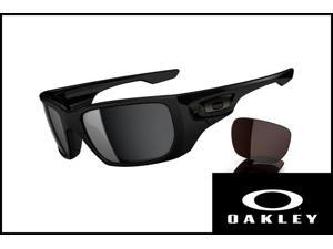 Oakley Men's OO9216-01 polished black/ black iridium black VR28 sunglasses