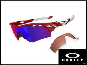 Oakley Men's OO9181-16 infrared/ positive red iridium VR28 sunglasses