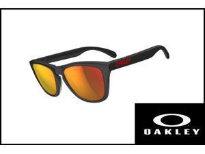 Oakley Men's OO2043-02 Sunglasses matte black/ ruby iridium sunglasses