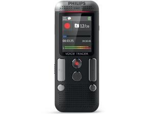 Philips DVT2500 Digital Voice Tracer with 2-Stereo Quality Microphones, black
