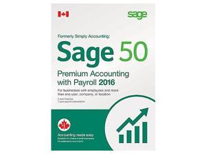 Sage 50 2016 Premium Accounting with Payroll (Bilingual)