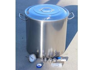 CONCORD 180 QT Home Brew Kettle DIY Kit w/ Accessories Stainless Steel Beer Stock Pot