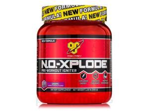 N.O.-Xplode Pre-Workout Igniter Grape - 30 Servings (1.22 lbs, 555 Grams) by BSN
