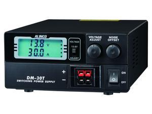 Alinco DM-30T - 30A Digital Switching Power Supply Featuring Anderson Powerpole® connectors.  An ultra-compact, lightweight design that supports 9-15VDC variable output and delivers up to 30A peak