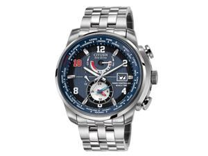 Men's Citizen Eco-Drive Limited Edition Eli Manning World Time A-T Radio Controlled Watch