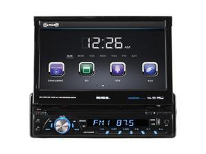 "Sound Storm Laboratories Soundstorm 7"" Single Din DVD Receiver Motorized touchscreen with detachable Face Bluetooth"