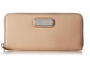 Marc by Marc Jacobs New Q Slim Zip Around Wallet, Cameo Nude, One Size