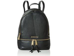 MICHAEL Michael Kors Rhea Zip Medium Leather Backpack, Black 30S5GEZB1L-001