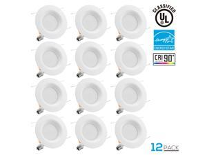 12PACK 19Watt 5/6-inch High CRI Wet Location Dimmable Retrofit LED Recessed Lighting Fixture, Energy Star UL-classified 120W Equivalent Ceiling Light, 2700K Soft White 1200lm Remodel Recessed Downligh
