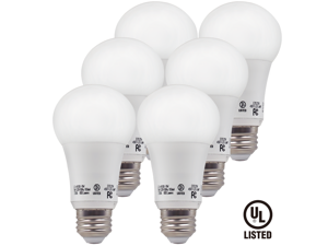 6-Pack TORCHSTAR UL-listed 9W A19 LED Light Bulb, 60W Equivalent A19 LED Bulb, 800 lumens 300° Omni-directional Beam, E26/E27 Base Warm White 2700K for General, Residential, Commercial Lighting