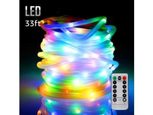 Xmas Decoration LED Starry String Lights, Multicolor- IR Control, Waterproof & Battery Powered- 33ft 100LEDs for Christmas Tree, Thanksgiving Day, New Year's Day, Wedding, Party, Event Decoration
