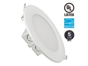 15W 6 inch Slim Recessed Ceiling Light with Junction Box, Dimmable Airtight Downlight, 100W Equivalent UL & Energy Star Certified, 1000lm, 5000K Daylight White
