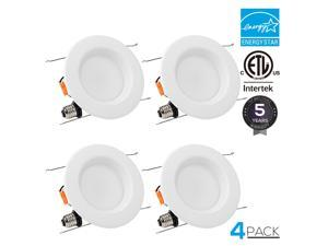 TORCHSTAR 4-PACK 5/6 inch Dimmable Recessed LED Downlight with Baffle Trim, 15W (90W Equiv.), CRI 90+, ENERGY STAR & ETL Listed, 2700K Soft White, 1250lm, Retrofit Lighting Fixture, 5 YEARS WARRANTY