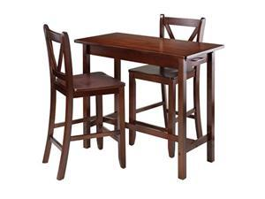 3-Pc Kitchen Island Table with 2 V-Back Stool