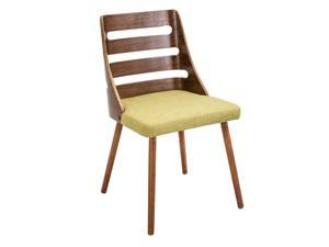 LumiSource Trevi Chair, Walnut / Green