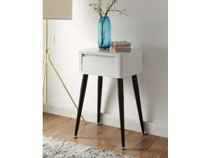 Black and White Side Table with Tall Legs