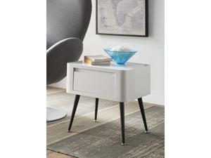 Black and White Side Table with Short Legs