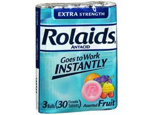 Rolaids Extra Strength Chewable Tablets Assorted Fruit - 30 ct