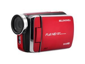 Bell & Howell DV30HD 1080p HD Video Camera Camcorder (Red)
