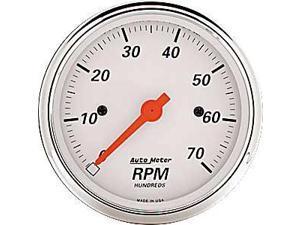Auto Meter Arctic White Electric Tachometer