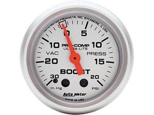Auto Meter Ultra-Lite Mechanical Boost/Vacuum Gauge