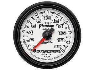 Auto Meter Phantom II Electric Pyrometer Gauge Kit