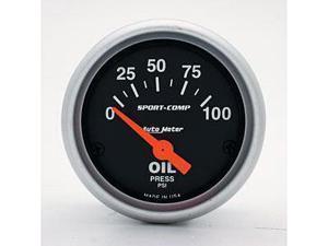 Auto Meter Sport-Comp Electric Oil Pressure Gauge