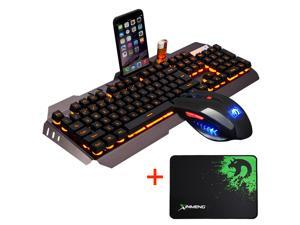 Wired LED Backlit Usb Ergonomic Gaming Keyboard + Gamer Mouse Sets + Mouse Pad