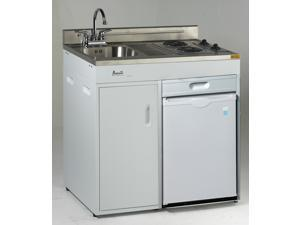 """Avanti CK3616 36"""" Complete Compact Kitchen with Refrigerator White"""