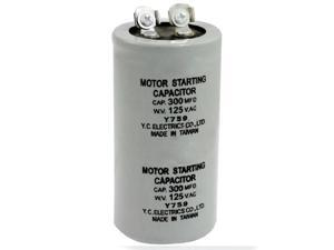 AC 125V 300uF 300MFD 2 Terminals Polypropylene Film Motor Run Start Capacitor