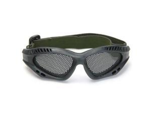 Shooting Tactical Airsoft Hunting Sand Metal Mesh Goggles Glasses Black