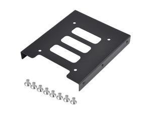 "SODIAL 2.5"" to 3.5"" SSD HDD Metal Adapter Mounting Bracket Hard Drive Holder for PC"