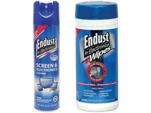 Endust NOZMSASKIT 2 Pack Anti-Static Cleaning Kit with 70 Ct Wipes And Electronics Cleaner