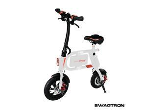 SWAGTRON SwagCycle E-Bike – Folding Electric Bicycle with 15 Mile Range, Collapsible Frame, and Handlebar Display