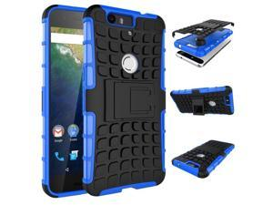 "for Huawei Nexus 6P Case, Hard PC+Soft TPU Shockproof Tough Dual Layer Cover Shell for 5.7"" Google Nexus 6P, Blue"