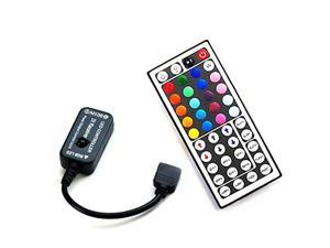 HitLights RGB Multicolor LED Strip Light 44 Key Custom Color DIY Controller - 72W for LED Tape Lights