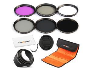 K&F Concept 77mm 6pcs FLD CPL+UV ND2 ND4 ND8 Lens Accessory Filter Kit UV Protector Circular Polarizing Filter for Canon 6D 5D Mark II 5D Mark III for Nikon D610 D700 D800 DSLR Camera