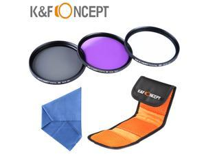 K&F Concept 62mm UV CPL FLD Polaring Lens Filter Kit For Canon Nikon Sony Digital DSLR Camera 62 MM Lens Cloth