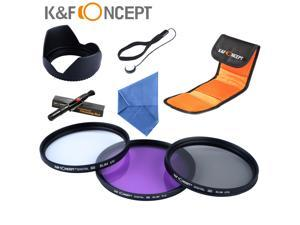 62mm UV Circular Protector FLD CPL Polarizing Filter Kit Hood Cleaning Pen Keeper For Sony Sigma 18-135mm Lens