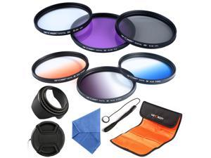 62mm CPL Polarizing UV FLD Graduated Color Filter Kit Flower Lens Hood Lens For Nikon Sony Camera 18-135 18-250 DSLR