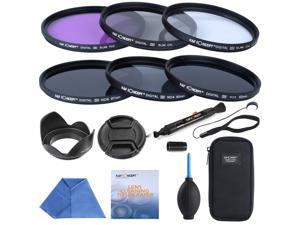 K&F Concept® 67mm UV CPL FLD ND2 ND4 ND8 Slim Lens Filter Set for Canon 600D 450D 100D 650D 700D 550D Nikon D7100 D5100 D3100 D7000 D5000 + 6-Slot Filter Pouch + Lens Cap + Lens Hood + cleaning tools