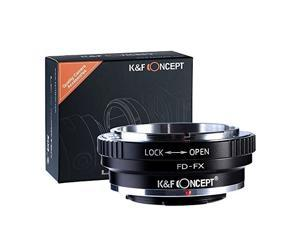 FD to FX Adapter,K&F Concept® FD to Fuji FX Mount Lens Mount Adapter Canon FD Lens to Fujifilm FX Mount Camera Adapter FX-FX
